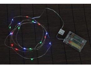 Řetěz s LED světýlky - vícebarevný