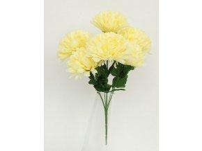 Puget chryzantéma 7 hlav krémová