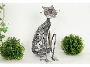 Dekorační kovová kočka
