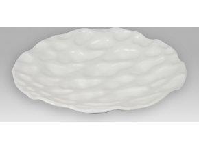 Dekorační mísa keramická - bílá matná