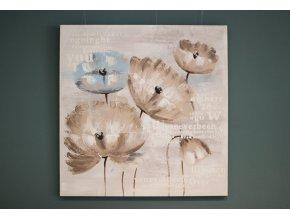 Obraz plátno olejomalba Květy