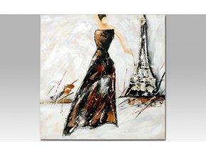 Obraz na zeď plátno Žena v Paříži