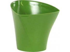 Zelený plastový obal na květiny 17x15,6cm