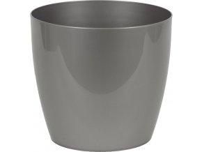Stříbrný plastový obal na květiny 23x20,5cm