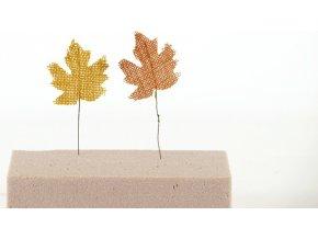 Dekorační jutové listy 15cm