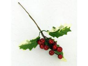 Umělá přízdoba vánoční větev 20cm
