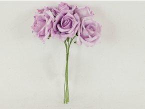 Růžičky pěnové puget 6ks květ 7cm