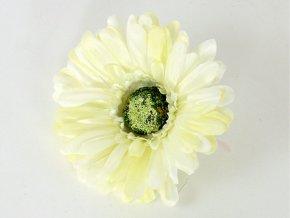 Umělý květ gerbera krémová