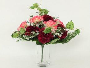 Puget umělých květin s karafiáty