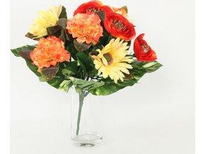 Puget umělých květin červenorůžový