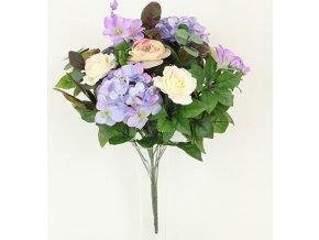 Puget umělých květin fialový