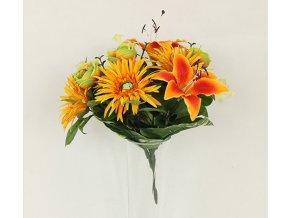 Puget umělých květin oranžový