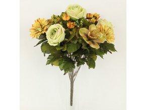 Puget umělých květin žlutý
