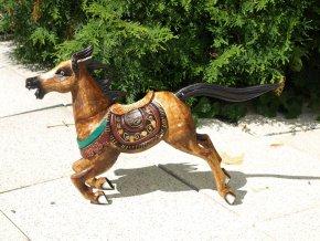 Dřevěný kůň 50x13x35 cm