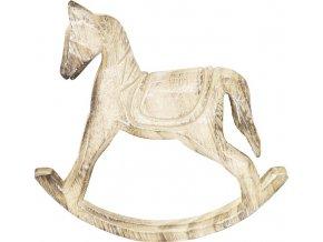 Dřevěný houpací kůň 19x3x20cm