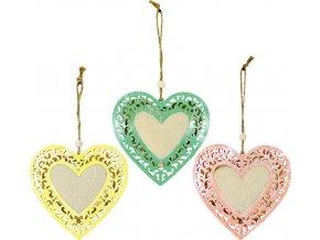 Srdce kovové k zavěšení