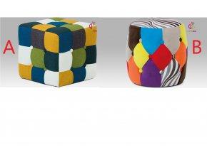 Taburet patchwork 36x36cm
