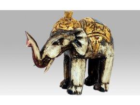 Slon antik | dřevořezba