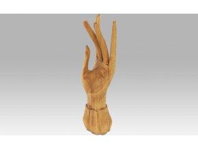 Dřevěná ruka na prstýnky