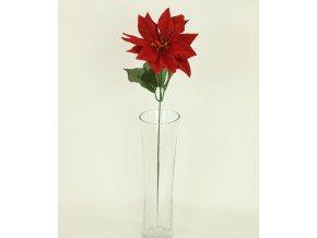 Umělá květina vánoční růže květ 15cm