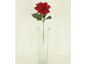 Umělá květina vánoční růže květ 10cm