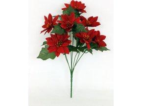 Umělá květina puget vánočních růž 7 hlav