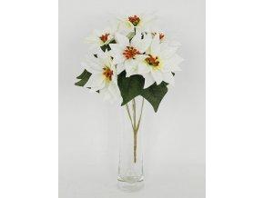 Umělá květina puget bílých vánočních růží poinsécek