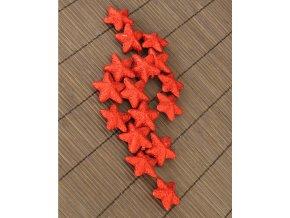 Hvězdička červená dekorační set 16ks
