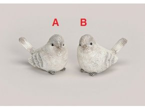 Zimní ptáček polyresin