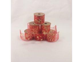 Vánoční stuha | červená | 6x300cm