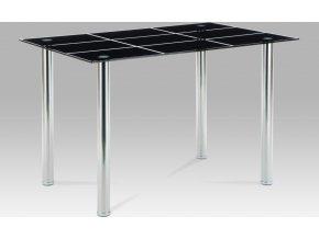 Jídelní stůl skleněný černý 120x80cm