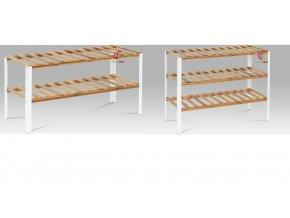 Botník bambusový s kovovou kostrou