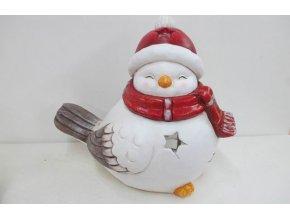 Ptáček, MgO keramická dekorace na čajovou svíčku