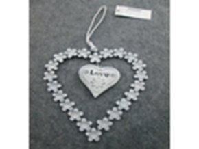 Srdíčko | dekorace na zavěšení | kov