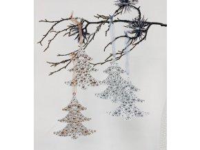 Dekorace závěsná strom plast set 2ks