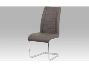 Jídelní židle| koženka | chrom | 48x45x99x50cm