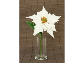 Vánoční růže poinsécie umělá květina bílá