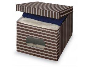 Úložný box s oknem s proužky