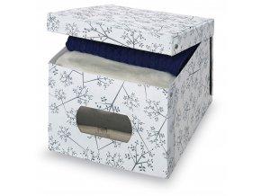 Úložný box s oknem s květinami