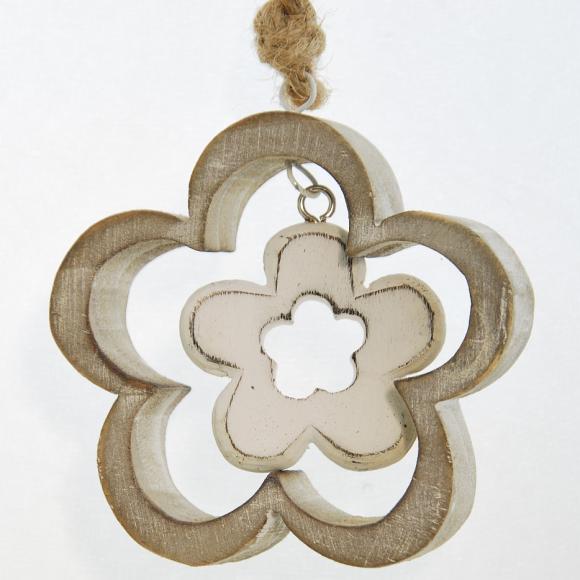 Dekorační kytka | dřevěná | s kytičkou Barva: hnědá