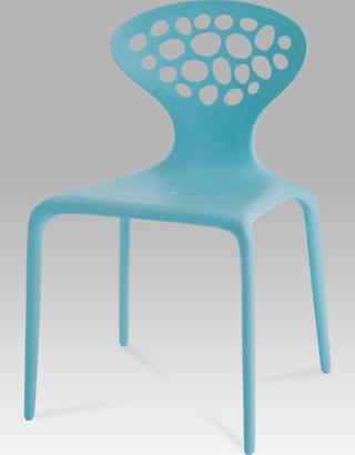 Jídelní židle plastová Barva: modrá