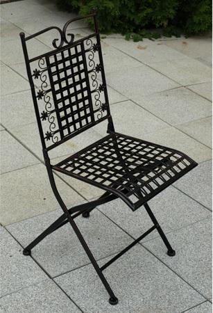 Kovová židle 40x46x94cm Barva: černá