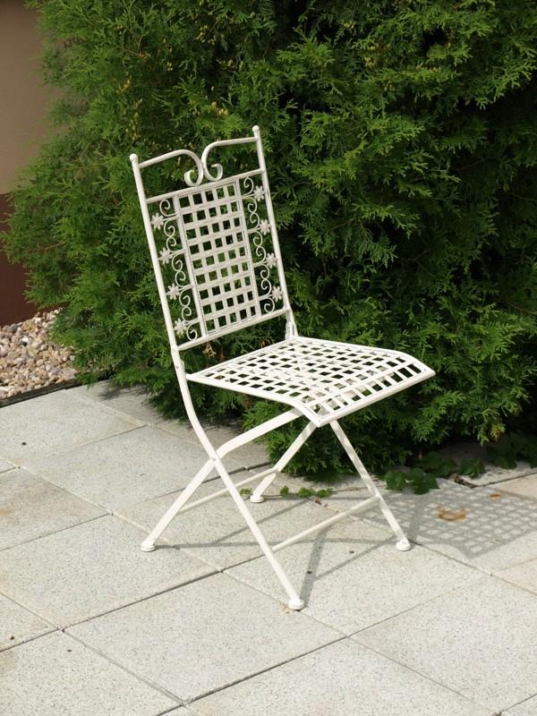 Kovová židle 40x46x94cm Barva: bílá