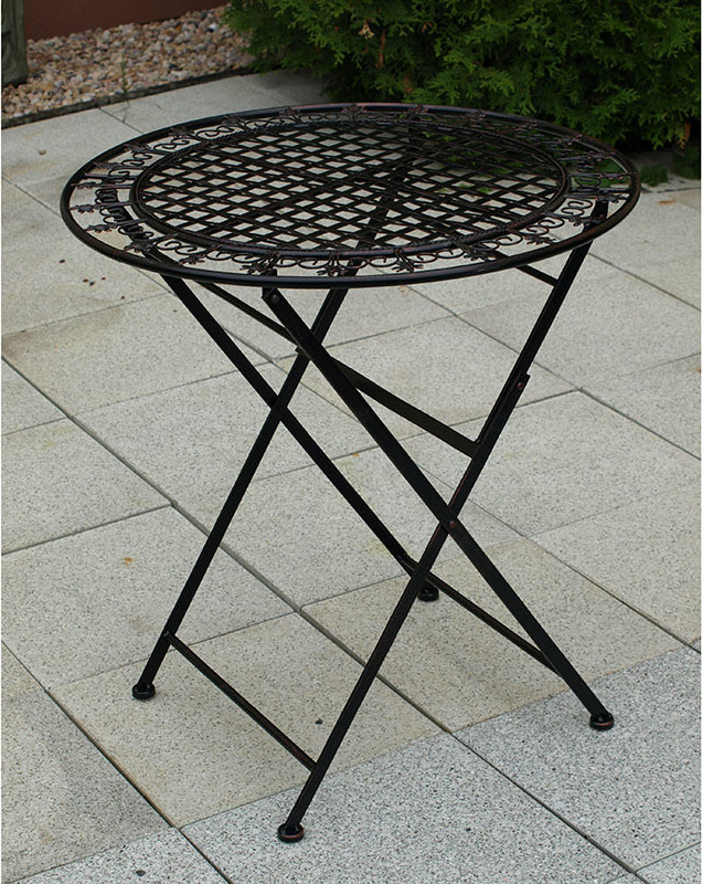 Stůl kovový 70x76cm Barva: černá