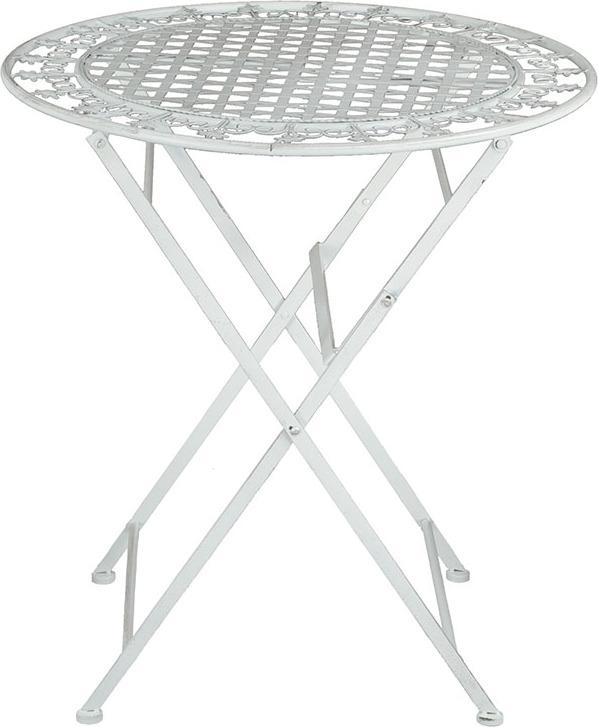 Stůl kovový 70x76cm Barva: bílá