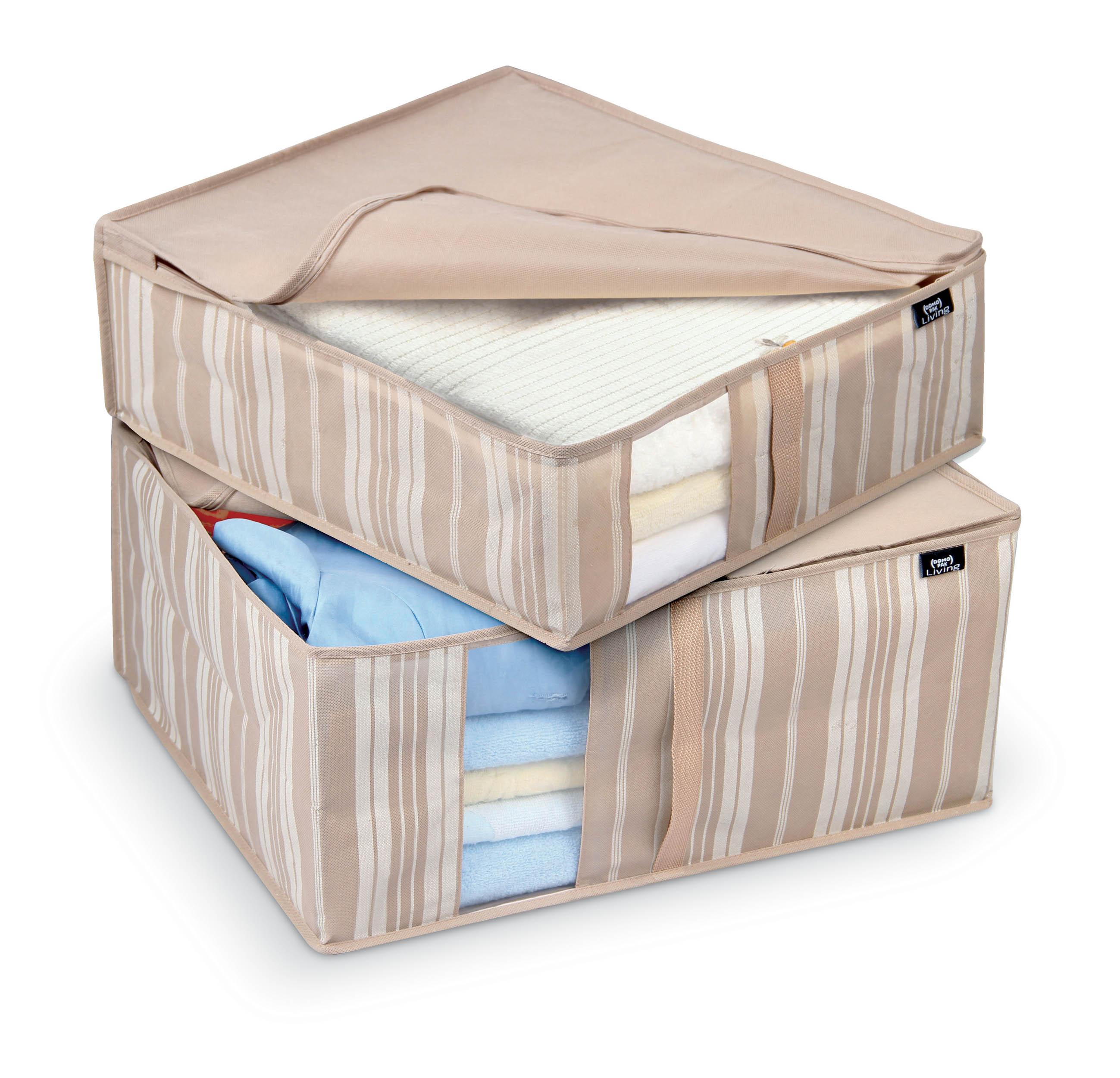 DOMOPAK Living Sada 2ks větších úložných boxů s proužky