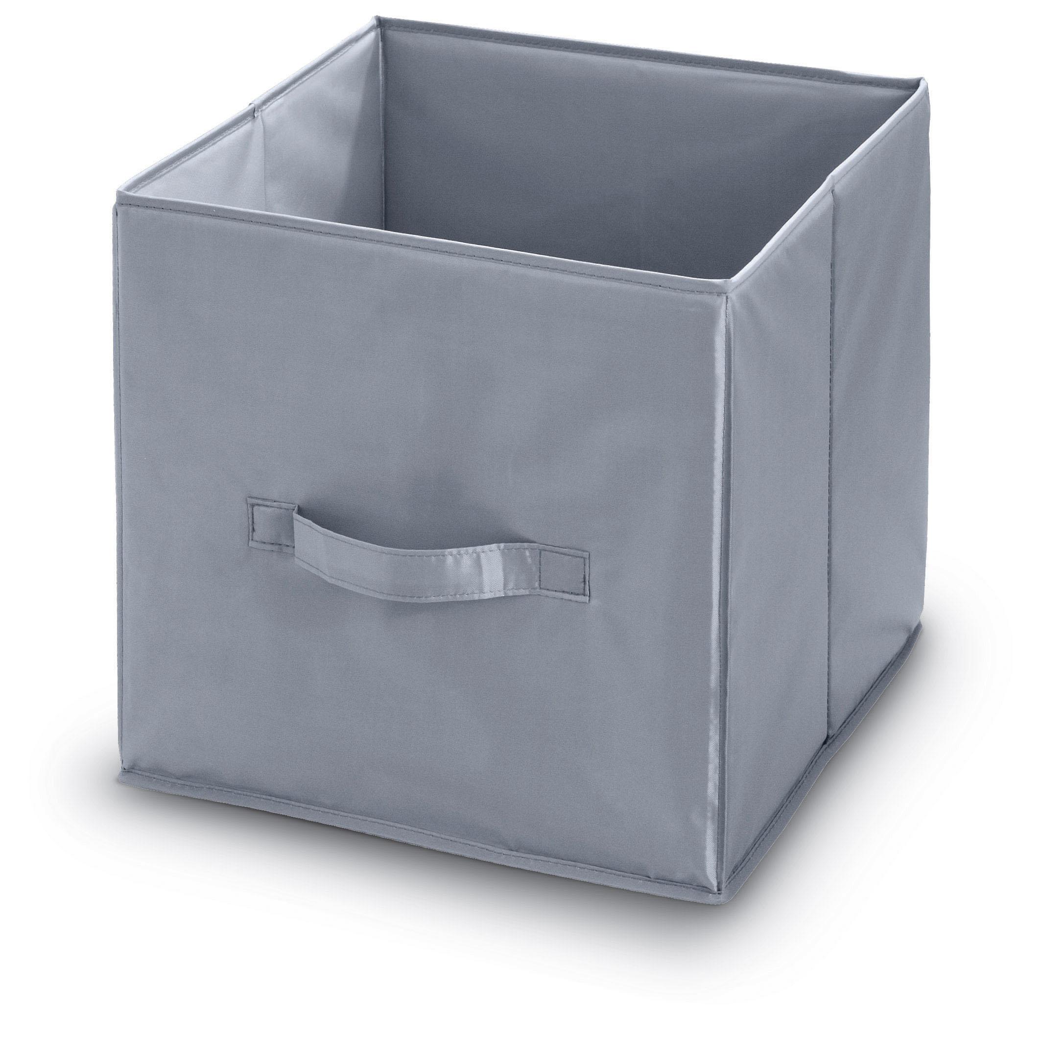 DOMOPAK Living Úložný box s poutkem šedý Velikost: větší