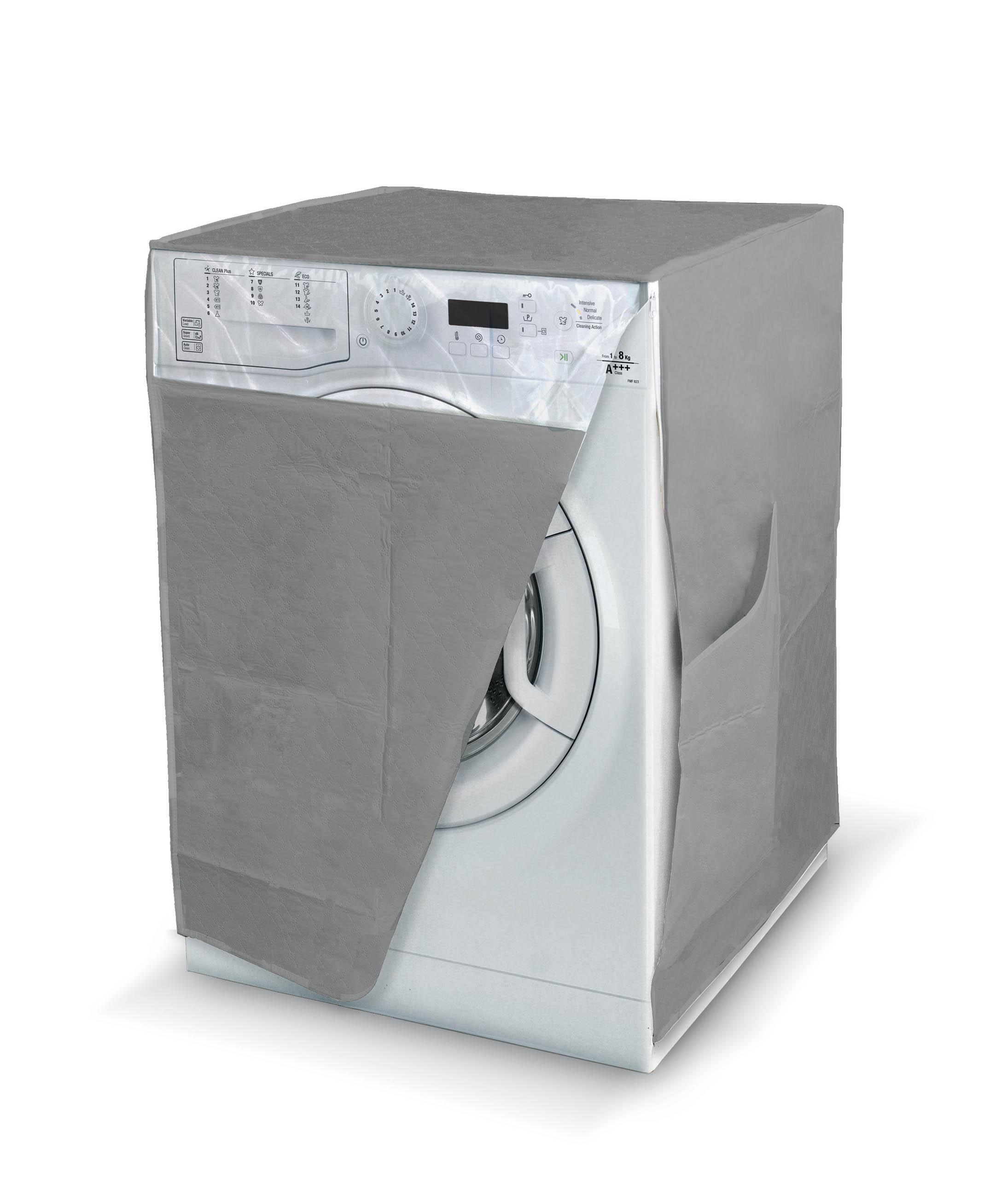 DOMOPAK Living Praktický obal na pračku s oknem Barva: šedá