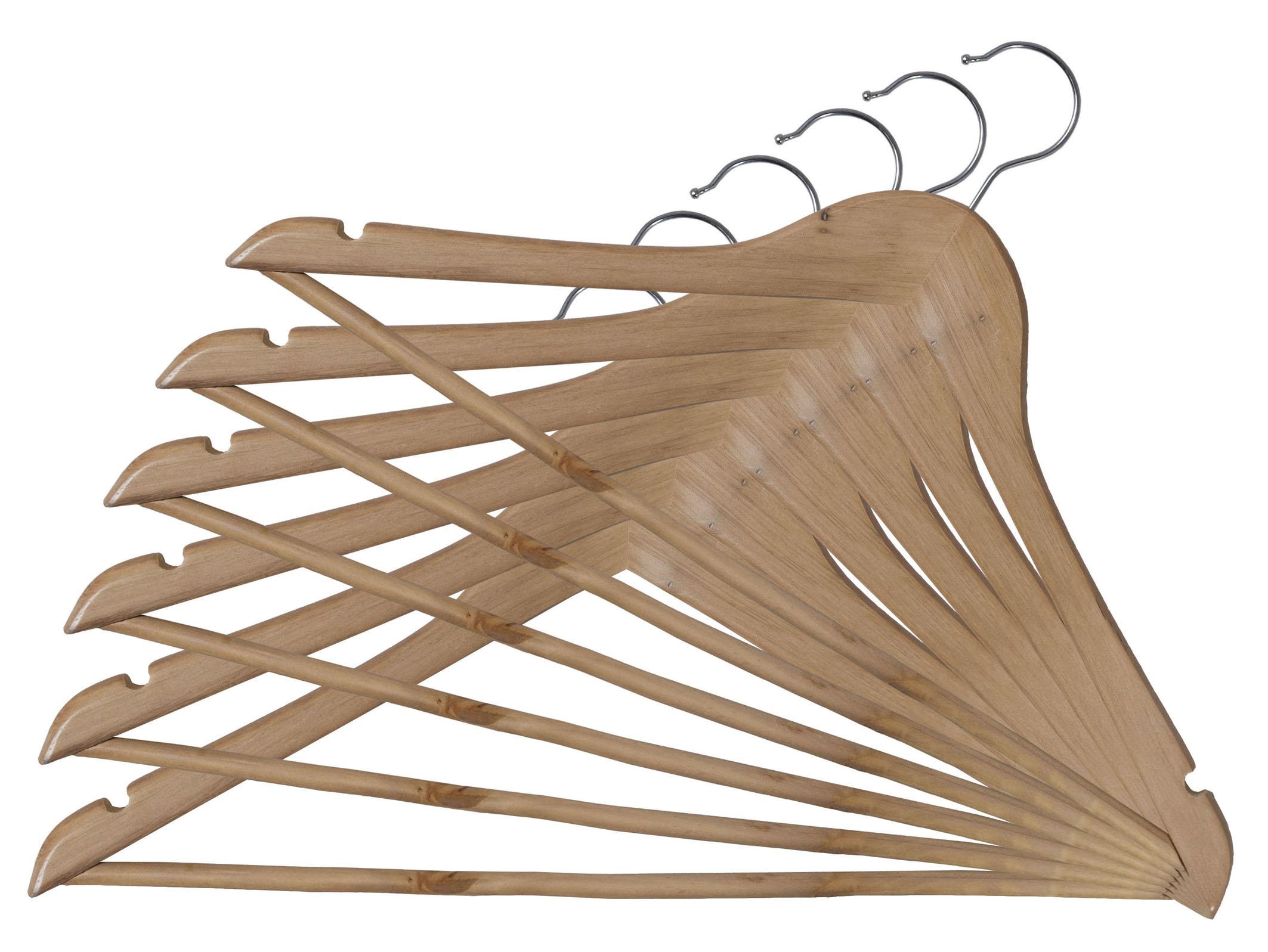 DOMOPAK Living Dřevěná ramínka set 6ks