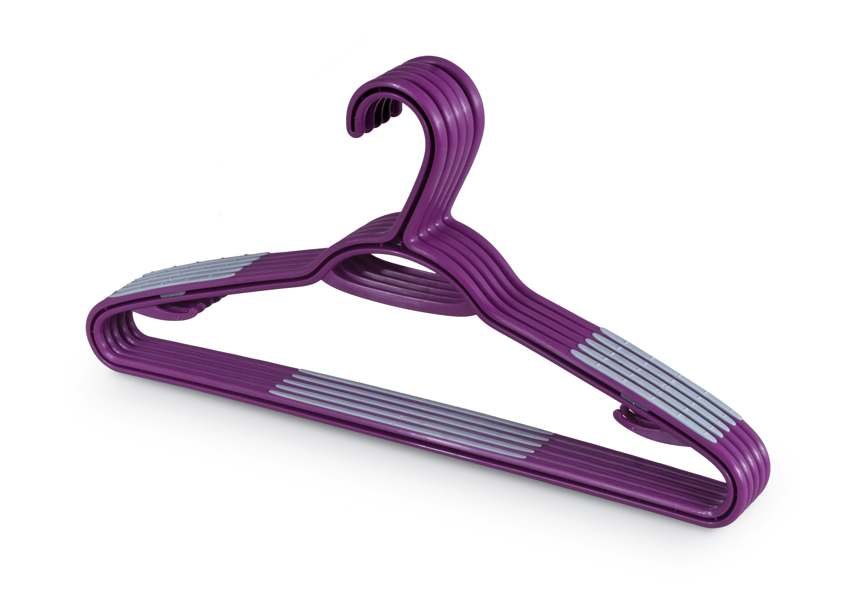 DOMOPAK Living Plastová ramínka set 5ks fialová